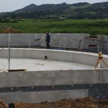 Rural precast walls for a Dairy Building project in Kamo, New Zealand