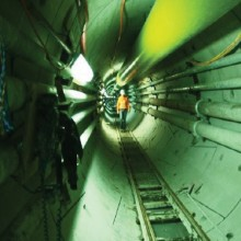 Dramix Fibres used to reinforce the precast concrete segments for tunnel lining