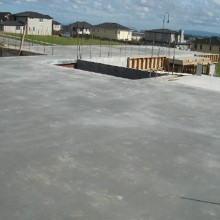 Dramix steel fibre reinforced concrete in suspended steel deck construction in a large residential home in Dannemora, Auckland