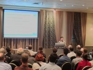 Tian presenting in WA